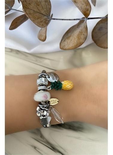 My Joyas Design Ananas Charmlı Bilezik Gümüş